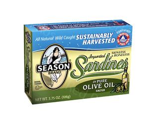 Season Boneless & Skinless Moroccan Sardines In Olive Oil - 6 x 124g