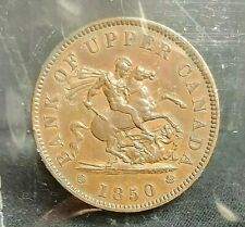 1850 One Penny Token BANK OF UPPER CANADA