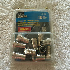 Ideal 85-036 Coax Cable F Connector Rg-59 Qty 10 to a Pack