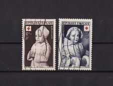 timbre France   croix rouge de 1951  la paire   num: 914 915  oblitéré