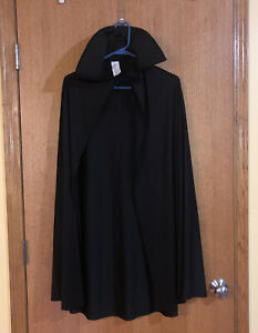 Adult Black Cape Costume Accessory Vampire Magician One Size Fits Most