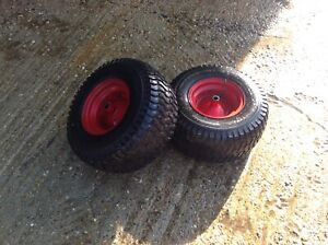 WESTWOOD RIDE ON MOWER  PAIR OF REAR 18 / 850 /  8 WHEELS AND TYRES