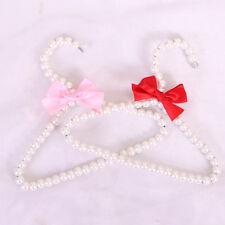 5Pcs Pet Dog Plastic Pearl Bow Clothes Hanger For Dog Cat Kid Children