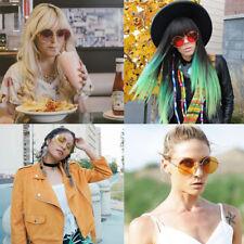 Fashion Oversized Round Metal Frame Large Color Lens Ladies Sunglasses