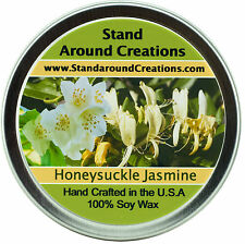 Premium 100% All Natural Soy Wax Candle - 4 oz Tin - Honeysuckle/Jasmine