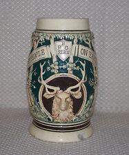 Vintage BPOE Elks Best People On Earth Raised Relief 3D Beer Stein or Mug