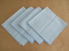 Lot Set 4 Pastel Sky Blue Polyester Cloth Tea Dinner Table Napkins 17x17 NICE