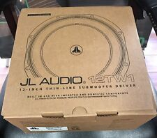 JL Audio 12TW1-4 12-inch Shallow Subwoofer Driver, 300W, 4Ω Car Audio Thin Sub
