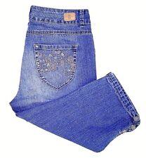 Bandolino Denim Women's Jeans Size 6 Skinny Fit Capri Missy Light Distress
