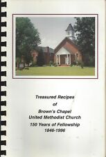 PITTSBORO NC 1996 BROWN'S CHAPEL METHODIST CHURCH COOK BOOK * TREASURED RECIPES