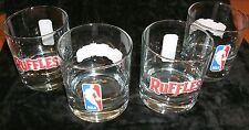 NBA Logo Rock Glasses--RUFFLES--Set of 4--BRAND NEW--FREE SHIPPING