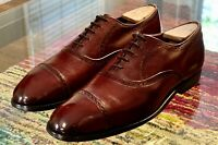 Allen Edmonds Van Ness Men's 10.5D Burgundy Calf Leather Cap Toe Oxfords