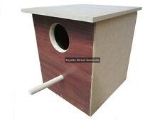 Small Parrot Nest Box 30cm Bird Nesting Wooden Aviary Cage Breeding AND-105