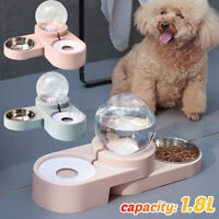 1.8L Automatic Pet Dog Cat Drink Water Dispenser Feeder Food Feeding Bowl Dish