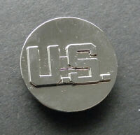 US ARMY US SILVER COLORED LAPEL HAT PIN BADGE 1 INCH
