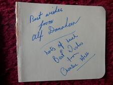 BOXING AUTOGRAPHS - CHARLIE HILL - ALF DANAHAR