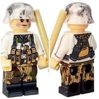 Custom Army Minifigure Winter Soldier Mini-figures Military Army Legos Comp WW2