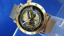 Modern Retro Huge Chunky Bridge Steampunk Skeleton Automatic Mechanical Watch