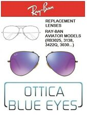 Lenti di Ricambio RAYBAN AVIATOR MODELS Replacement Lenses Ray Ban RB3025 1M MIR