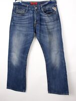 Replay Hommes Billstrong Jeans Jambe Droite Taille W36 L32 BCZ201