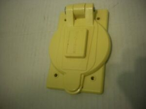 Hubbell 74CM25WOA Lift Cover Plate Marine Electrical 20A and 30A Waterproof USA