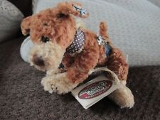 """NWT GANZ Cottage Collectible """"SNIFFY"""" the Patchwork Dog, 6"""", by Lorraine"""