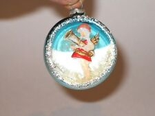 3D Angel Diorama Vintage Christmas Ornament Decoration Japan Antique Glass 1950s