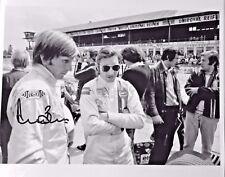 Gulf Porsche 917LH LE MANS 24h. 1971 Jo Siffert Derek Bell in pits Derek signed