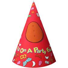 MR. POTATO HEAD CONE HATS W/ STICKERS (8) ~ Vintage Birthday Party Supplies Rare