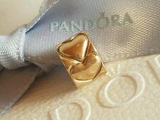 Pandora Authentic 14ct 14k Gold Heart Clip 750243 Excellent Condition