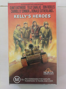 Kelly's Heroes - Clint Eastwood - VHS War Classic VHS FREE POSTAGE