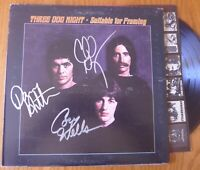 """THREE DOG NIGHT signed auto album """"Suitable for Framing"""" LP: Negron Hutton Wells"""