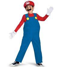 Super Mario Bros Deluxe MARIO Costume Size 7-8 M Medium Nintendo Halloween New