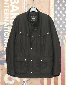 £199 Mens Barbour Duke International black waxed jacket size XXL 2XL XL 42 44