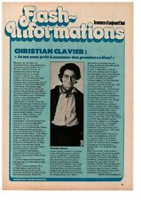 ▬► CLIPPING Flash Information : Christian CLAVIER - 1 page - 1980