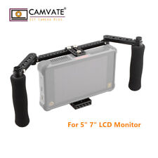 "CAMVATE Camera Monitor Cage Adjustable Foam Handle for 5"" 7"" LCD Monitor"