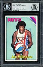 Super John Williamson Autographed 1975-76 Topps Card #251 Nets Beckett 11482148