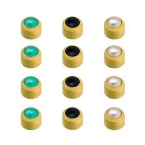Caflon 24CT Gold Plated - Cabachons Assorted Studs (12 Pack)