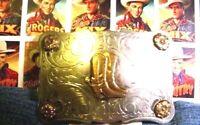 Vintage ROCKMOUNT DENVER COLO Nickel Silver COWBOY Boots Belt Buckle