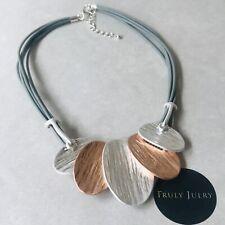 UK Ladies Designer Long Rose Gold Double Hand Pendant Necklace Jewellery Gift