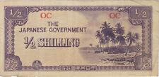 1/2 SHILLING OCEANIA JAPANESE INVASION MONEY CURRENCY NOTE BILL JIM HALF WWII