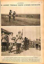 Albert Thomas Général Berthelot Armée du roi de Roumanie WWI 1917 ILLUSTRATION