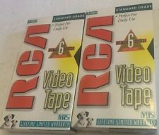 Lot of 2 Rca T-120H Standard Grade Recordable Video Tape Vhs Sealed