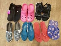 Bundle job lot Womens shoes sandals flip flops UK 6 6.5 EU 39 40 new & used
