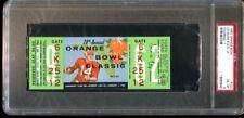 1962 Orange Bowl Full Ticket LSU Tigers v Colorado Buffs PSA *5645