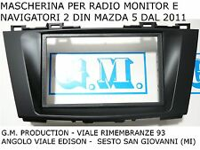 Panel PARA MONITOR DE LA RADIO NAVEGANTES 2 Din Dobles MAZDA 5 M5 de 2011