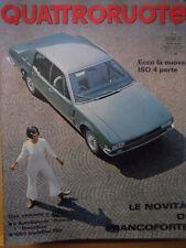 Quattroruote 141 1967 -Ecco la nuova ISO 4 Porte - Salone Francoforte    [Q31]
