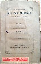 1877 RAYMOND DUMAS LETTERATURA LATINA CONTRIBUTO SCIPIONE MAFFEI NELLA TRAGEDIA