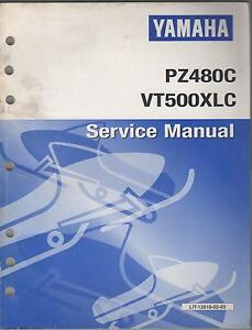 1999 YAMAHA SNOWMOBILE PZ480C & VT500XLC  SERVICE MANUAL