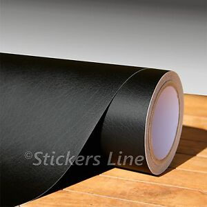 Pellicola PELLE nera cm 50x75 adesivo PELLE film black leather wrapping cuoio